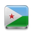 Metal icon of Djibouti vector image