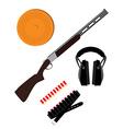 Skeet rifle headphones for shooting buckshot and vector image