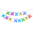 bunting with Happy New Year words vector image vector image