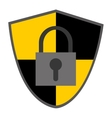 shield safety lock vector image