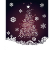 Abstract Christmas tree2 vector image