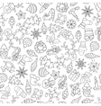Christmas seamless pattern with different icons vector image