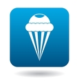 Ice cream cone icon simple style vector image