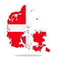 map of denmark with flag vector image