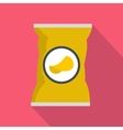 Potato chips bag icon flat style vector image