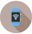 wifi connected vector image