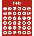 Set of pets simple icons vector image