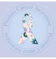 Prostate cancer awareness stamp vintage vector image vector image