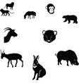 horserabbitgoatsaigapolar bearcheetah cubmonkeywil vector image vector image