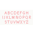 Christmas Knitted Font in red color vector image vector image
