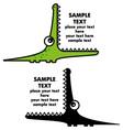 cartoon crocodile vector image vector image