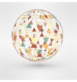 3d globe with triangular vector image
