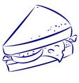 sandwich vector image vector image