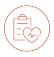 Heartbeat record line icon vector image
