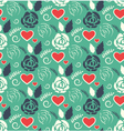 Seamless Love Abstract Pattern with Roses Flowers vector image