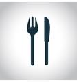 Fork knife symbol vector image