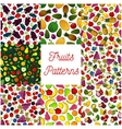 Fruit and berry seamless pattern for food design vector image