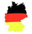 german flag on map isolated vector image