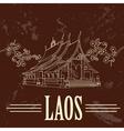Laos Retro styled image vector image