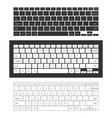 laptop keyboard set vector image