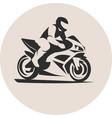 motorcycle racer vector image