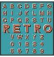 Retro font vector image