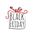 Black Friday sales labe gift bowl tag vector image