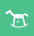 icon on background kids rocking horse vector image vector image