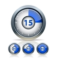 Set of timer clock vector image vector image
