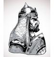 warrior vector image