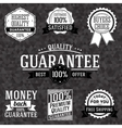 Collection of vintage business labels with popular vector image