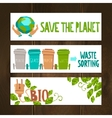 Eco Banners Set vector image