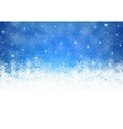 Winter background with shiny lights vector image