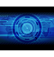 Abstract blue technology with place for your text vector image