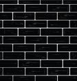 brick wall black vector image