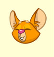 cartoon chipmunk head vector image