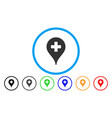 clinic map pointer rounded icon vector image