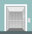 Elevator with opened door in vector image