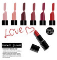 realistic style design of lipstick vector image