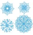 Set of design circle elements vector image