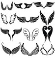 set of tattoo wings vector image