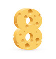digit eight on white for design vector image