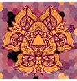 mandala triangle vector image