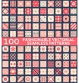 Fashionable vintage seamless patterns vector image vector image