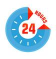 24 hours open blue vector image