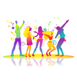 On disco dancing man and woman vector image