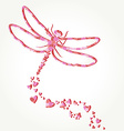 Dragonfly decal vector image