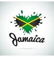 Love Jamaica lettering Heart vector image