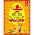 Mexican Food Menu Poster vector image