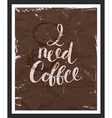 Motivaion poster I need coffee vector image
